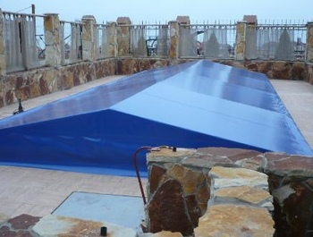 Tents for swimming pools